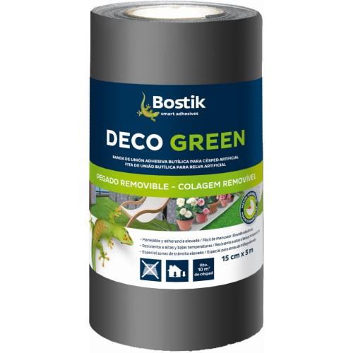 Banda Unión Adhesiva Butílica Deco Green 15cm X 5m Negra (Caja 4 Unid.)