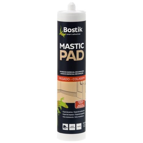 Masilla de fijacion Mastic Pad Cartucho 310 ml Marfil (Caja 24 Unid.)