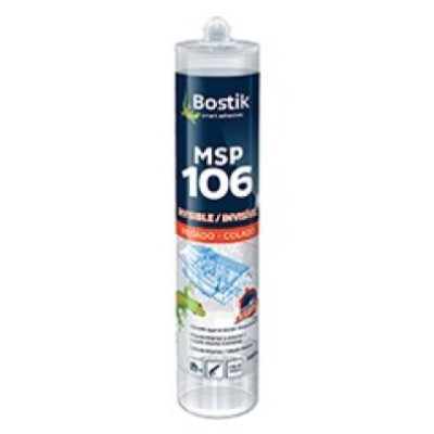 Adhesivo Sellador MSP 106 Invisible Cartucho 290 ml Transparente (Caja 12 Unid.)