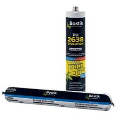 Masilla Adhesiva de Poliuretano PU 2638 Evolution Bolsa 600 ml  Blanco (Caja 20 Unid.)