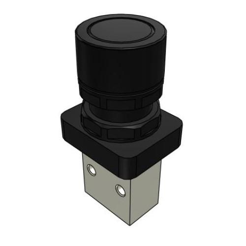 Microválvula Pulsador Negro 3/2 Normalmente Cerrada M5