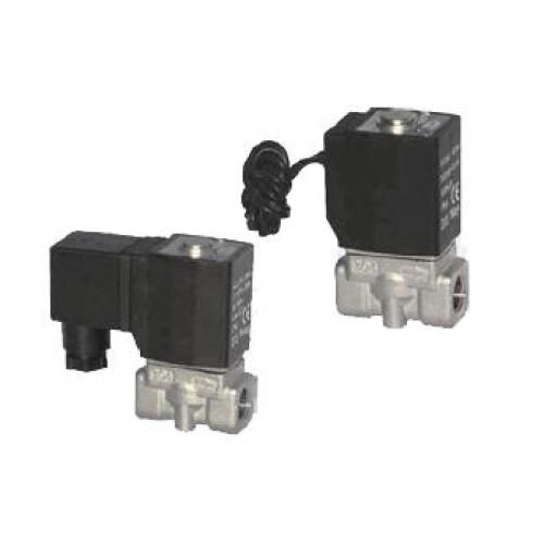 Electroválvula Inox 2/2 Alta Temperatura Pilotaje Interno Normalmente Cerrada 1/2