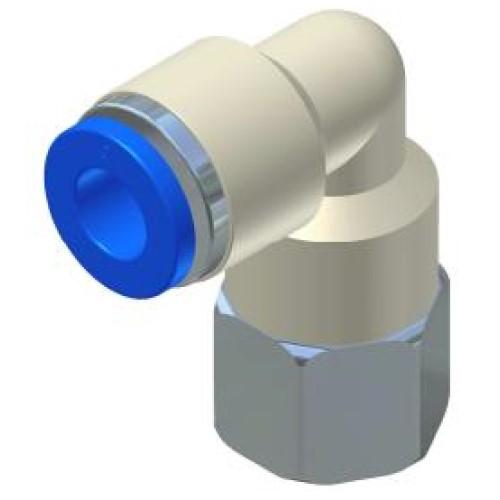 Racor Codo Automático Giratorio Hembra M5-Ø4